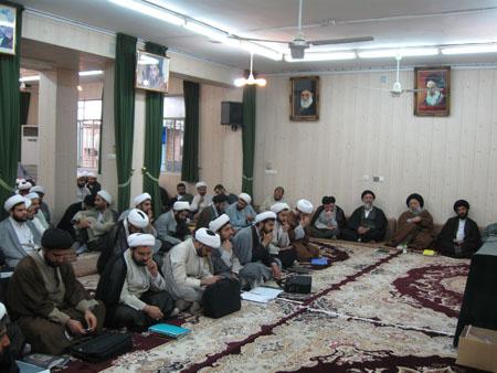 سخنرانی مسئول ستادعتبات خوزستان درجمع طلاب درس خارج