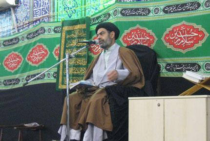سخنرانی مسئول ستادبازسازی عتبات درجمع زیارت عاشوراء مسجد جوادالائمه(ع)