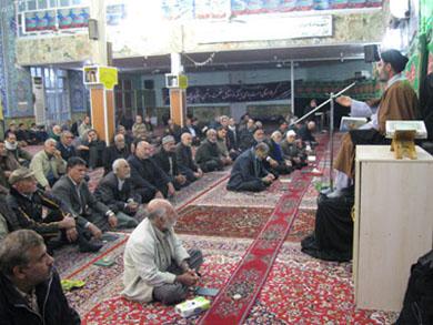 سخنرانی مسئول ستادعتبات عالیات درجمع زیارت عاشوراء مسجد جوادالائمه(ع)