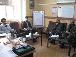 جلسه مشترک مدیر صندوق قرض الحسنه رسالت در استان خوزستان