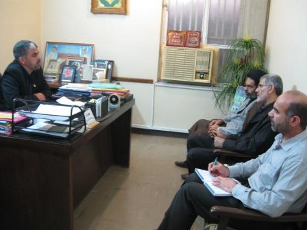 جلسه مشترک مسئولین ستادبازسازی عتبات خوزستان بامدیرکل سازمان حج وزیارت