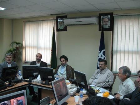 دیدارمسئول ومعاونین ستادبازسازی عتبات خوزستان بامدیران شرکت خدمات توربین
