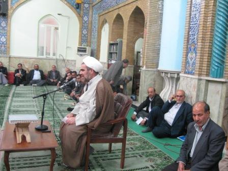 حجه الاسلام الیاسی در جمع زوار عازم عتبات